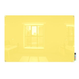 Harmony Magnetic Yellow Glass 4 x 5 Dry Erase Board