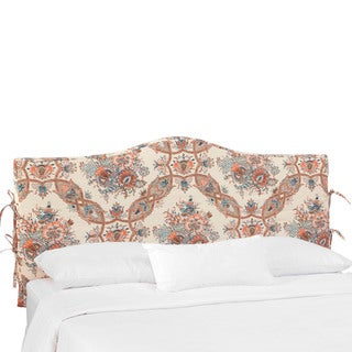 Skyline Furniture Slipcover Headboard in Sissy Coral