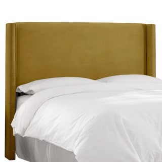 Skyline Furniture Wingback Headboard in Mystere Velvet