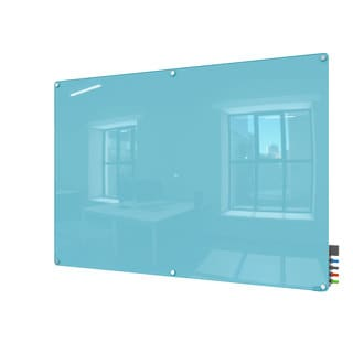 Harmony Magnetic Blue Glass 4 x 6 Dry Erase Board
