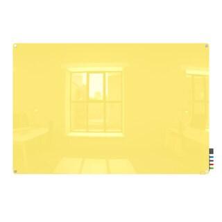 Harmony Yellow 3 x 4 Radius Corner Glassboard