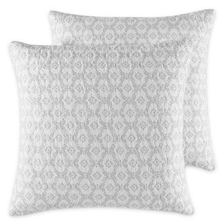 Laura Ashley Venetia Grey European Sham Set (Set of 2)