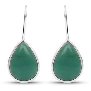 Liliana Bella Handmade Teardrop Green Dangle Earrings