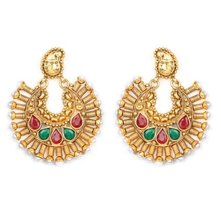Liliana Bella Goldplated Chandelier Earrings With Pearl And Glass
