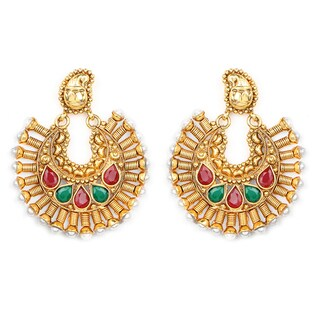 Liliana Bella Goldplated Chandelier Earrings With Pearl And Glass - White