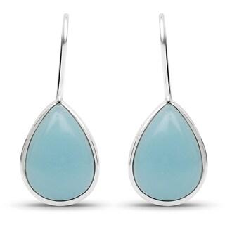 Liliana Bella Handmade Teardrop Turquoise Dangle Earrings