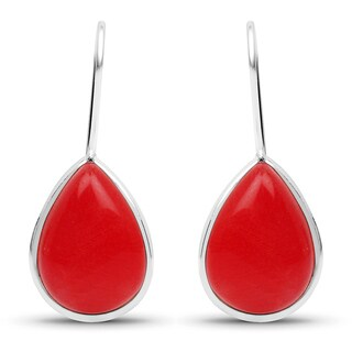 Liliana Bella Handmade Teardrop Red Dangle Earrings