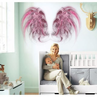 Angel wings Full Color Decal, Angel Full color sticker,colored wings Sticker Decal size 22x26