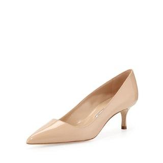 Manolo Blahnik BB Nude Patent Shoes