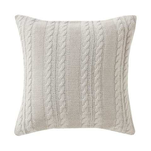 VCNY Dublin Cable Knit Rectangular Decorative Pillow