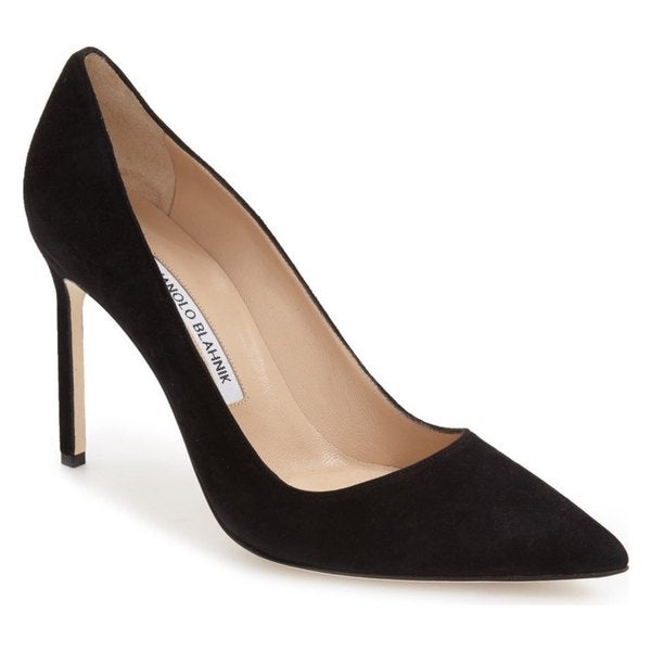 Shop Manolo Blahnik BB Black Suede Pumps