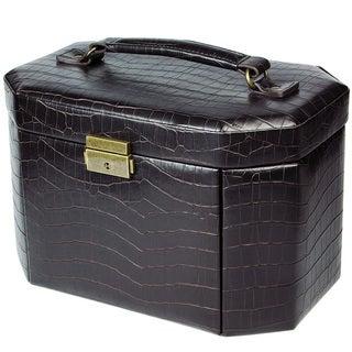 Ikee Design Leatherette Luxury Lockable Jewelry Box