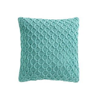 VCNY Home Diamond Knitted Cotton 18-inch Decorative Pillow