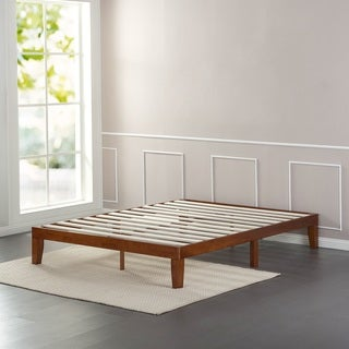 priage 12 inch solid wood queen size platform bed