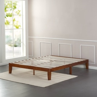 Priage 12-Inch Solid Wood Queen-Size Platform Bed
