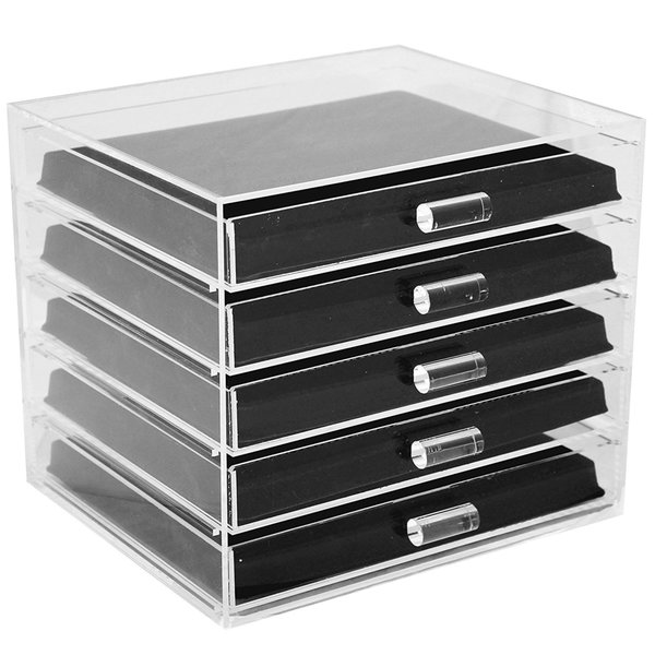 Ikee Design Acrylic 5Tier Jewelry Organizer with 5 and 16