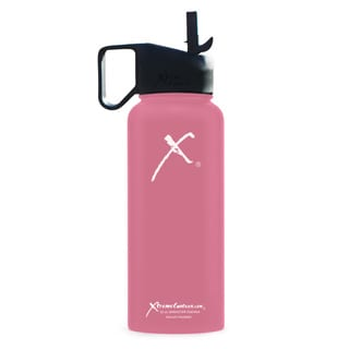 Xtreme Canteen 18/8 Stainless Steel and Plastic 32-ounce Double-wall Vacuum-insulated Wide-mouth Water Bottle with Straw Lid