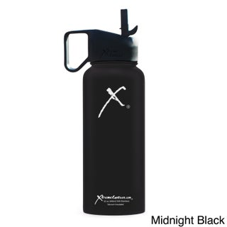 Xtreme Canteen 18/8 Stainless Steel and Plastic 32-ounce Double-wall Vacuum-insulated Wide-mouth Water Bottle with Straw Lid (5 options available)