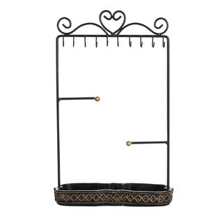 Ikee Design Black/Gold Metal Jewelry Hanger Organizer