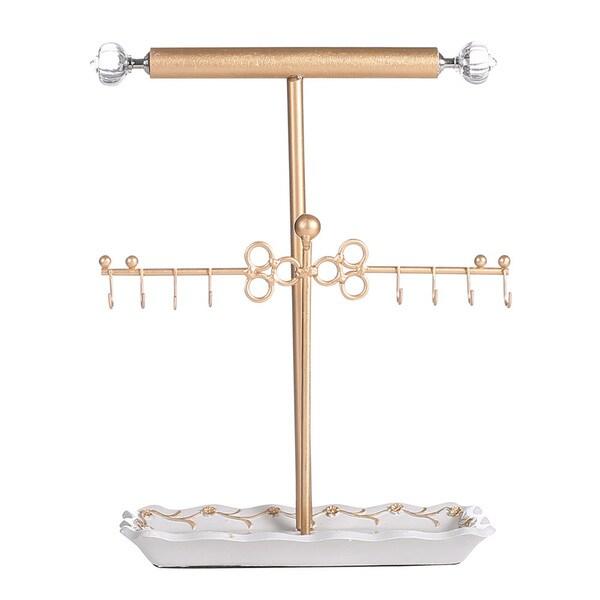 Ikee Design Metal T-Bar Jewelry Hanger/Organizer