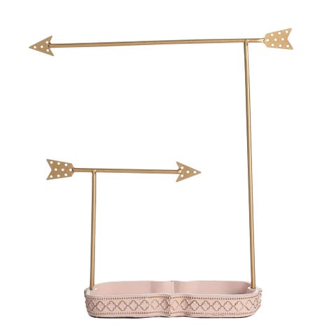 Goldtone Metal Arrow Jewelry Stand