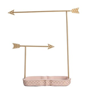 Ikee Design Goldtone Metal Arrow Jewelry Stand