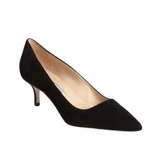 Manolo Blahnik BB Black Suede Pumps