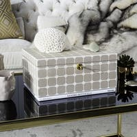 Safavieh Couture High Line Collection Neiva Beige Faux Stingray Box with Key Hole