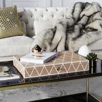 Safavieh Couture High Line Collection Alaina Orange Faux Stingray Box with Key Hole