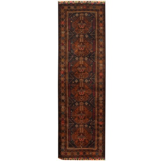 Herat Oriental Afghan Hand-knotted Tribal Balouchi Wool Runner (3' x 10')