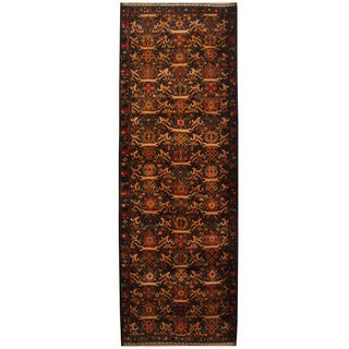 Herat Oriental Afghan Hand-knotted Tribal Balouchi Wool Runner (3'3 x 9'6)