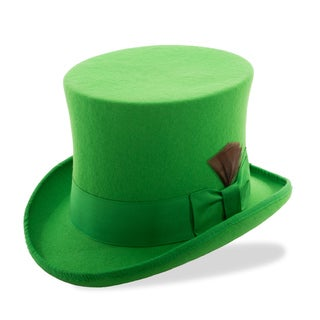 Ferrecci Premium Kelly Green Wool Top Hat