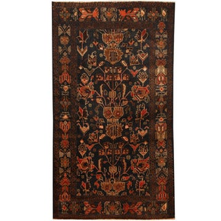 Herat Oriental Afghan Hand-knotted Tribal Balouchi Wool Rug (3'7 x 6'8)