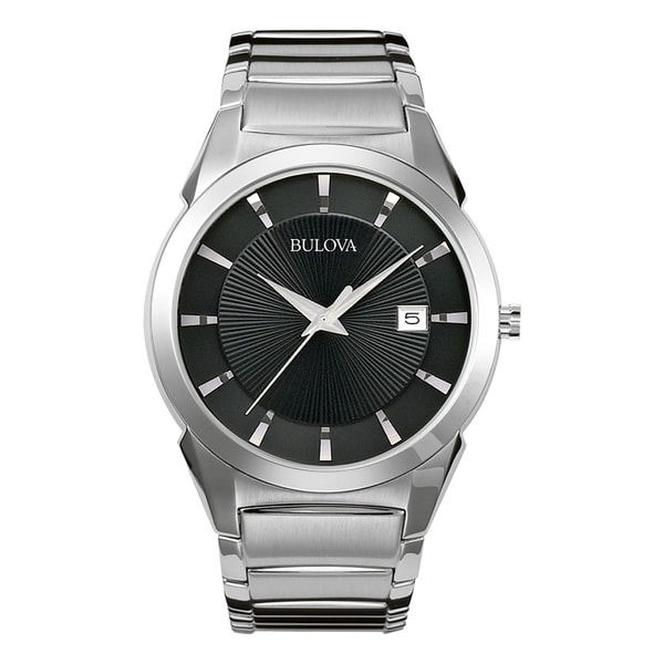 Bulova Men's 96B149 Silver Stainless Steel Water-resistant Calendar Date Watch