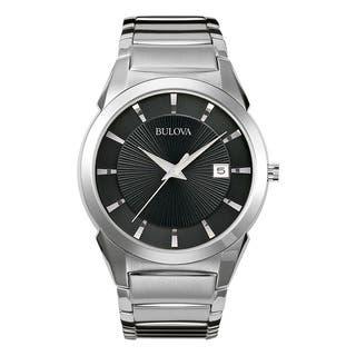Bulova Men's 96B149 Silver Stainless Steel Water-resistant Calendar Date Watch|https://ak1.ostkcdn.com/images/products/13847245/P20489887.jpg?impolicy=medium