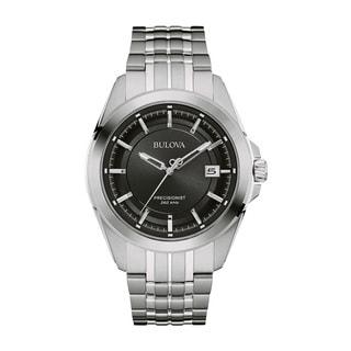 Bulova Men's 96B252 Stainless Steel Silver Water-resistant Calendar Date Watch
