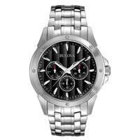 Bulova Silvertone Stainless Steel Men's Water-resistant Watch