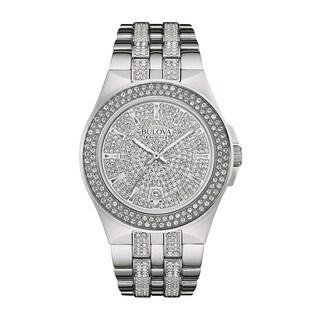 Bulova Silvertone Stainless Steel Water-resistant Calendar Date Men's Watch