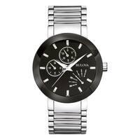 Bulova Men's 96C105 Silvertone Stainless Steel Water-resistant Watch