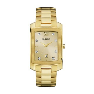 Bulova Men's 97D107 Goldtone Stainless Steel Water-resistant Watch