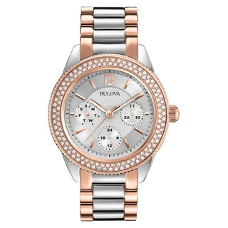 Bulova 98N100 Women's Two-Tone Stainless-steel Water-resistant Watch