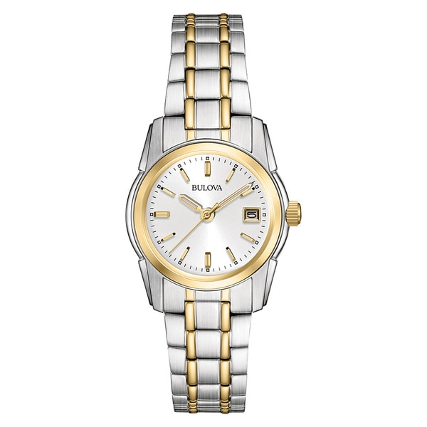 Bulova Women's 98M105 2-tone Stainless Steel Water-resistant Calendar Date Watch