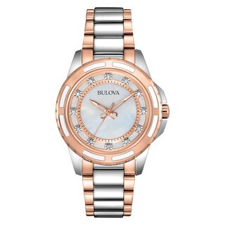 Bulova Women's 98P134 Two-tone Stainless Steel Water-resistant Watch
