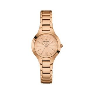 Bulova Women's Rosetone Stainless Steel Water-resistant Watch