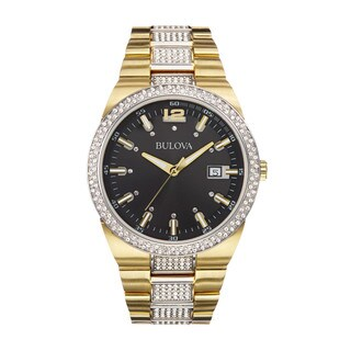 Bulova Goldtone Stainless Steel Men's Water-resistant Calendar Date Watch