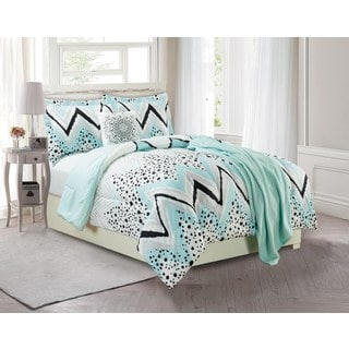 Zagg Dots 5-piece Comforter Set with Throw