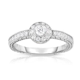 Noray Designs 14k White Gold 2/5ct TDW White Diamond Ring (G-H, I1-I2)