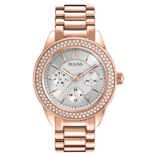 Bulova Rose Goldtone Stainless Steel Women's Water-resistant Watch