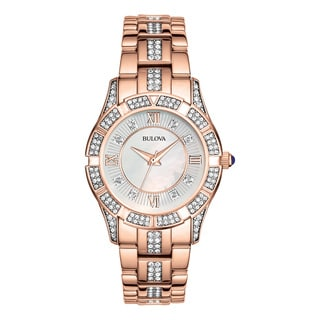 Bulova Women's 98L197 Rose Goldtone Stainless Steel Water-resistant Watch