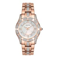 Bulova Women's  Rose Goldtone Stainless Steel Water-resistant Watch